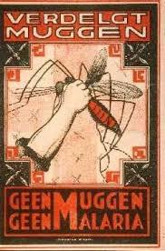 Poster 'Verdelgt Muggen' tegen malaria